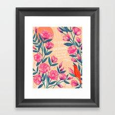 A Love of Gardening Framed Art Print