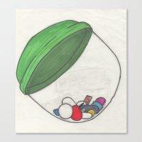 pills Canvas Prints featuring Pills by Sarah Kay Napier