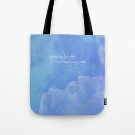 heaven smiles softly Tote Bag