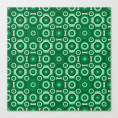 Green Monochrome Geoemtric Pattern Canvas Print