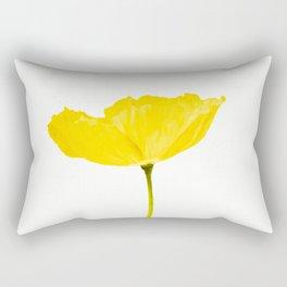 Yellow Poppy White Background #decor #society6 #buyart Rectangular Pillow