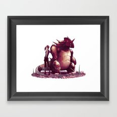 The waste is watching...  Framed Art Print