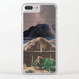 Savage Paradise Clear iPhone Case
