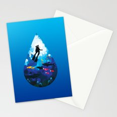 Diver of the Blue Stationery Cards