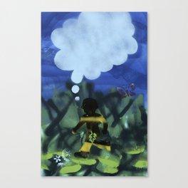 Boy with Fig Leaf Canvas Print