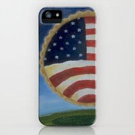 American Pie in the Sky Flag Folk Art iPhone Case