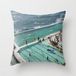 Icebeg's pool Bondi Beach. Throw Pillow