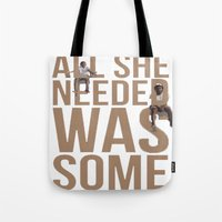 childish gambino Tote Bags featuring Chance the Rapper Childish Gambino The Worst Guys by Poonicycle