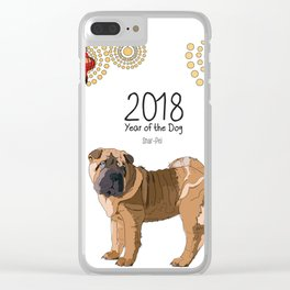 Year of the Dog Shar Pei Clear iPhone Case