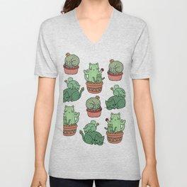 Cactus Cats Unisex V-Neck