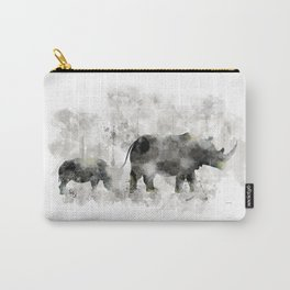 Rhino and Calf Carry-All Pouch