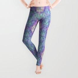 Pastel Diamond Mermaid Scales Leggings
