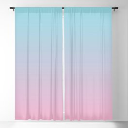 PINK DAWN Pastel colors Ombre pattern  Blackout Curtain