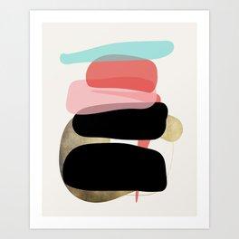 Modern minimal forms 1 Art Print