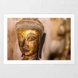 Wat Si Saket Buddhas IX, Vientiane, Laos Art Print