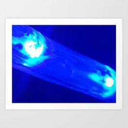 Blue Slide Art Print