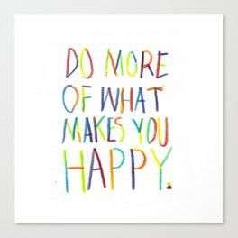 Positive Quote Canvas Print