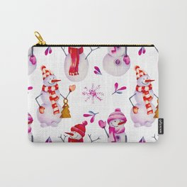 snowman pattern Carry-All Pouch