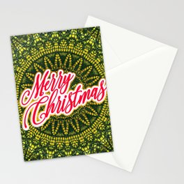 Merry Christmas Lace Stationery Cards