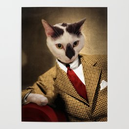 Boo conquers Hollywood - Cat Portrait Poster