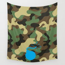CAMO & LIGHT BLUE BOMB DIGGITY Wall Tapestry