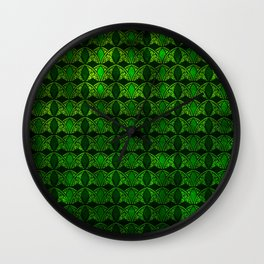 Emerald Arches Wall Clock