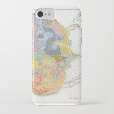 1874 Geological Map of the United States iPhone 7 Slim Case