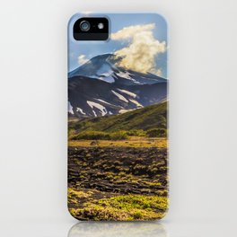 Looking at a Volcano iPhone Case
