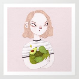 Eat Avocados Not Animals Art Print