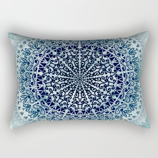 BLUE ICELAND MANDALA Rectangular Pillow