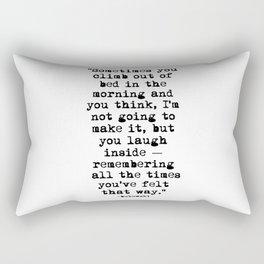 Charles Bukowski Typewriter Quote Morning Rectangular Pillow