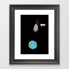 Cannonball! Framed Art Print