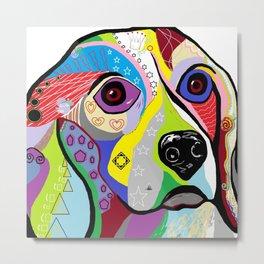 Beagle Close-up Metal Print