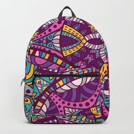 Beautiful Vintage Retro Bohemian Hippie Magenta Teal Mandala Design Backpack
