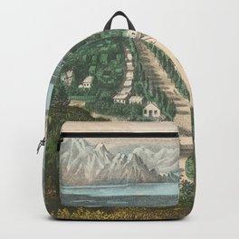 Vintage Pictorial Map of Salt Lake City UT (1870) Backpack