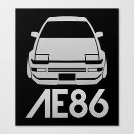Toyota AE86 Hachi Roku - silver - Canvas Print