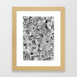scribble me happy Framed Art Print