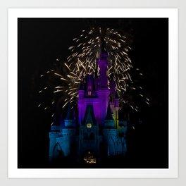 Castle + Fireworks = Joy Art Print