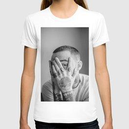 Mac Miller Black And White Portrait T-shirt