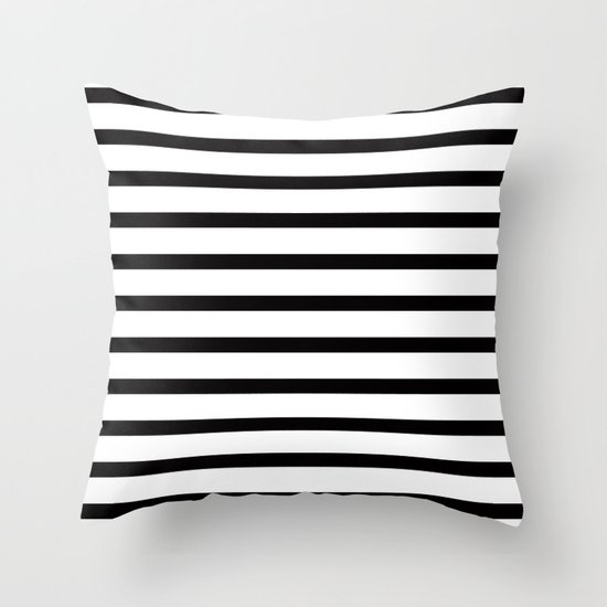 Black Stripe Throw Pillow : Black Stripe Pattern Throw Pillow by RexLambo Society6