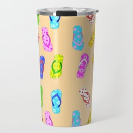 Flip Flops Pattern Travel Mug