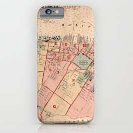 Map of Halifax 1878 iPhone Case