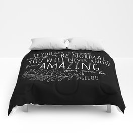 Inspirational Art Print // Maya Angelou Quote // How Amazing You Can Be Typographic Print // Modern Comforters