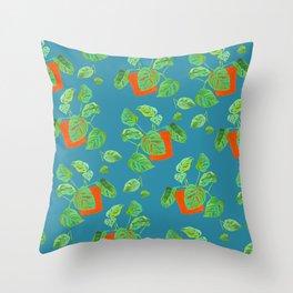 Monstera Obliqua Throw Pillow