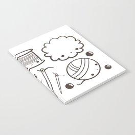 crochet cute - kawaii craft supplies Notebook