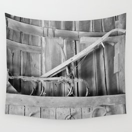 Plow in the Barn Wall Tapestry