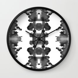 Black Ink Blots Wall Clock