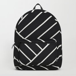 Diamond Series Pyramid White on Charcoal Backpack
