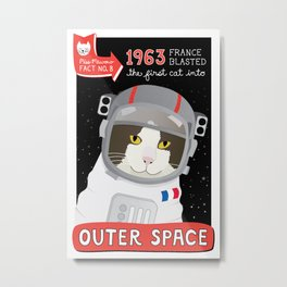 1963: France Blasted the First Cat into Outer Space Metal Print