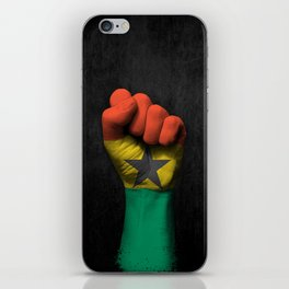 Ghana Flag on a Raised Clenched Fist iPhone Skin